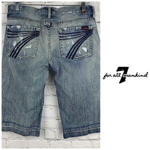 7FAM Dojo Denim Shorts